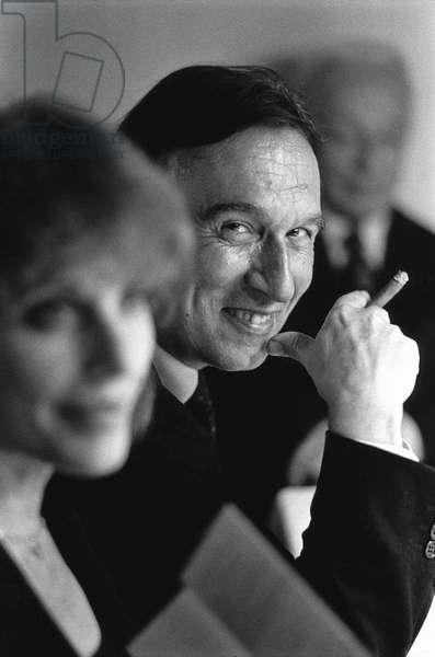 Claudio Abbado, Milan, Italy, 1992 (b/w photo)