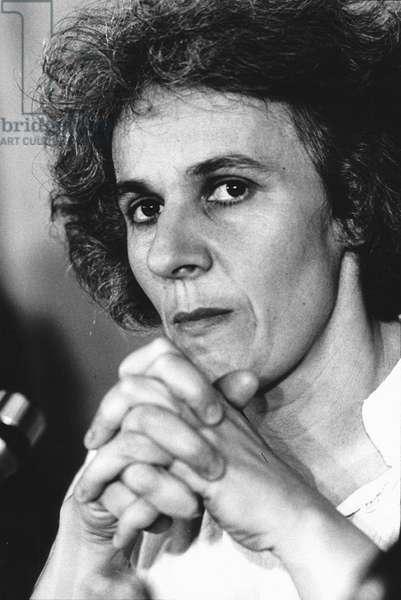 Ariane Mnouchkine, Paris, France, 1978 (b/w photo)