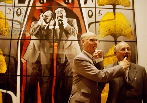 Gilbert & George at the Biennale, Venice, Italy, 1990 (photo)