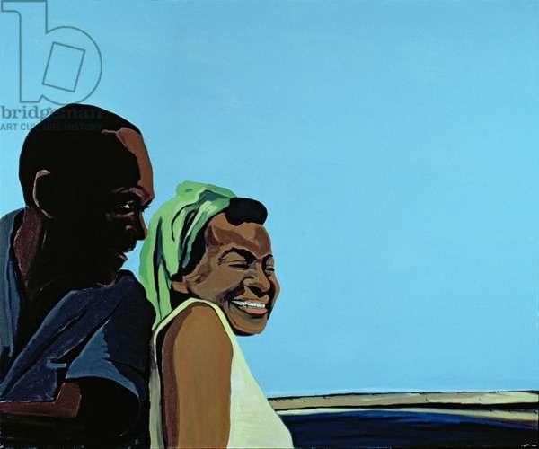 Cuban Portrait no.10, 1996 (acrylic on canvas)