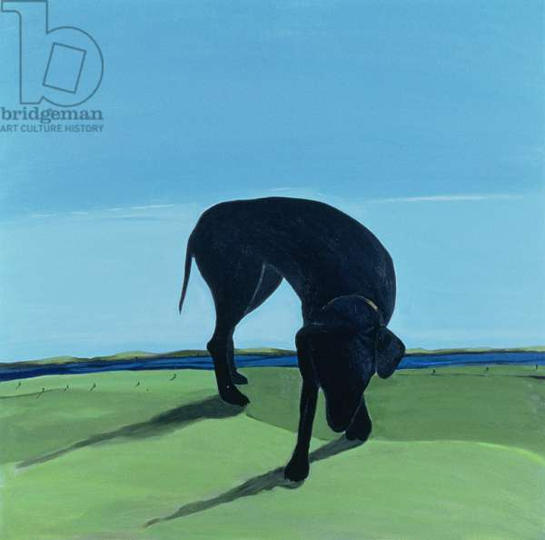 Joe's Black Dog, 1996 (acrylic on canvas)