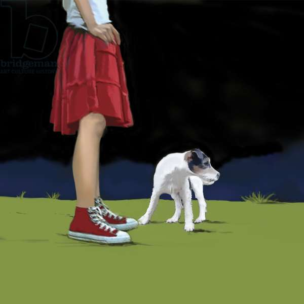 Girl in Red Skirt, 2008 (acrylic on canvas)