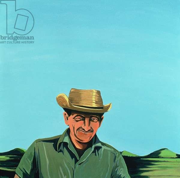 Cuban Portrait #3, 1996 (acrylic on canvas)