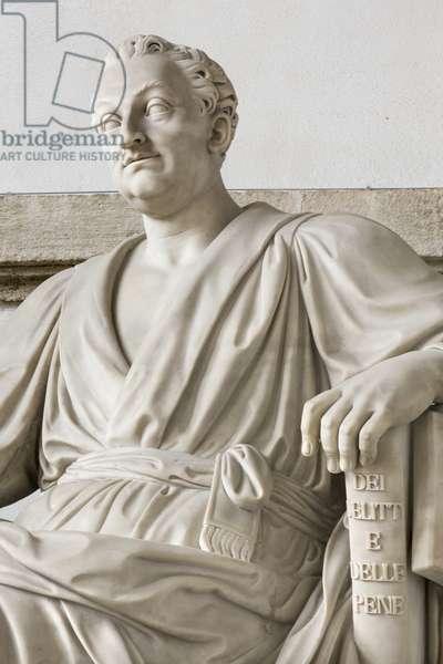 Statue of Cesare Beccaria, 1838