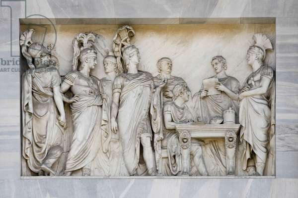 The Congress of Vienna, detail of Arch of Peace, Milan, Italy (marble)