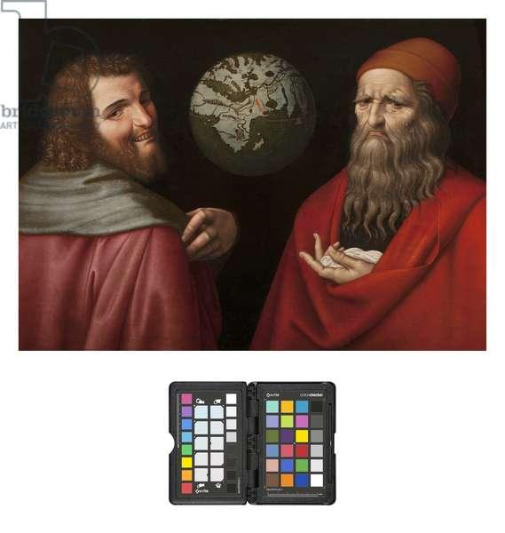 Heraclitus and Democritus (oil on canvas)
