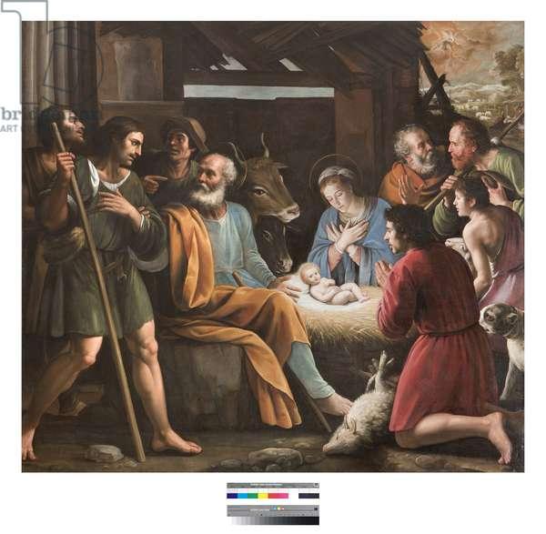 Nativite Painting by Giuseppe Vermiglio (1585-1635) Biblioteca Braidense di Brera Milan Italy