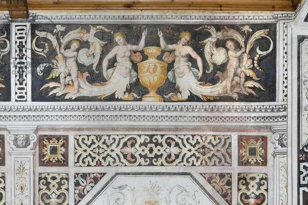 Carducci Room, detail (fresco)