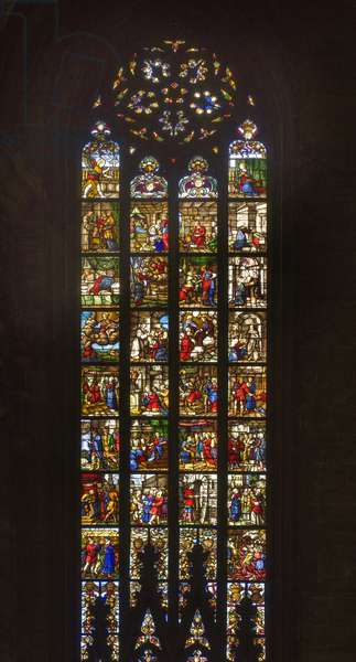 Stories of Saint Catherine of Alexandria (stained glass)