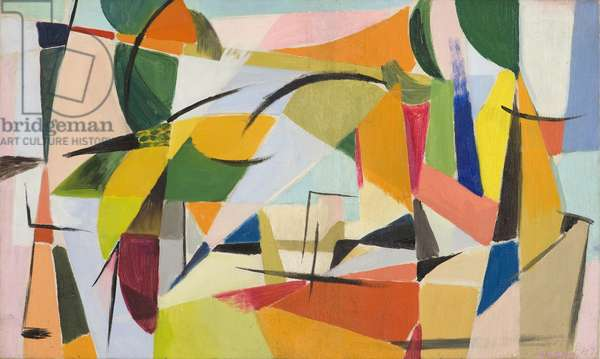 Resolution (Scomposizione), 1947 (oil on canvas)