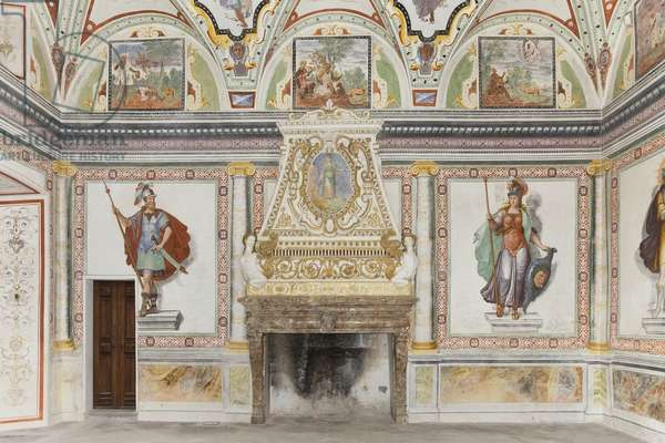Room of Jupiter and Mercury: Mars and Minerva (fresco)