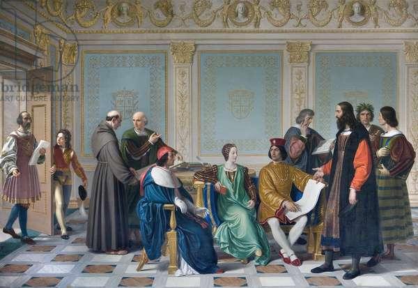 The artists of the court of Ludovic Marie Sforza known as the More (Ludovico Maria Sforza detto il Moro, 1452-1508), 1823 (oil on canvas)