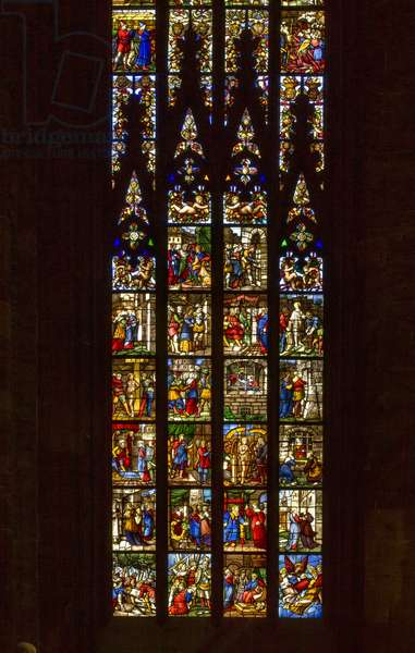 Stories of Saint Catherine of Alexandria (glass)
