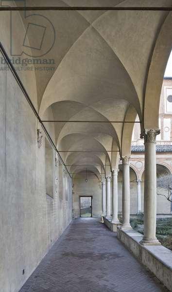 Cloister, Palazzo Brera, Milan, Lombardy, Italy (photo)