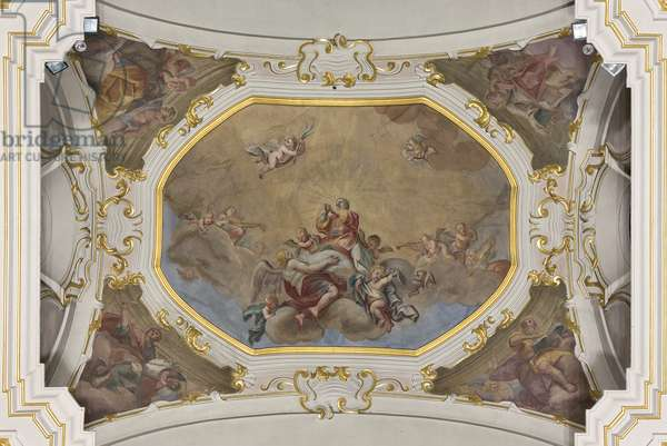 Trinity and Saint Stephen in Glory with the four Evangelists