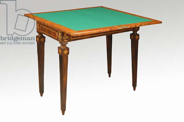 Table with green top