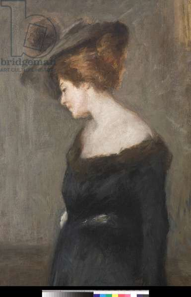 Portrait of a Lady, 1903 (oil on canvas) (detail of 3496727)