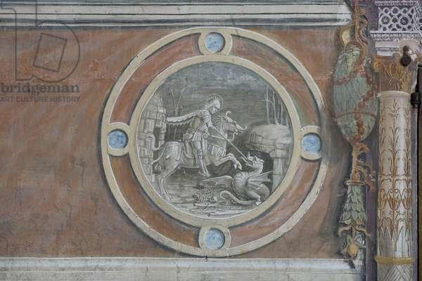 Saint George killing the dragon