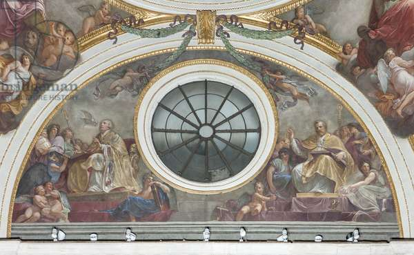 Saint Ambrose and Saint Gregory the Great, 1792-95 (fresco)
