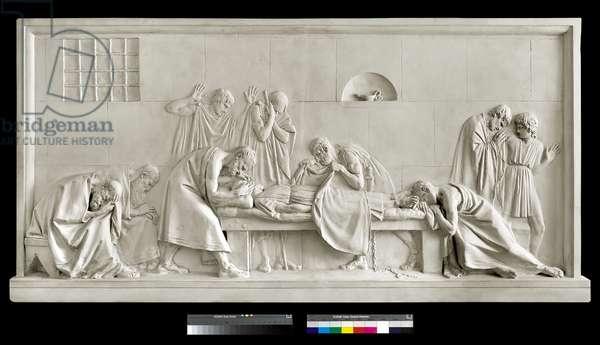 Crito closing the eyes of Socrates, 1790-92 (plaster)