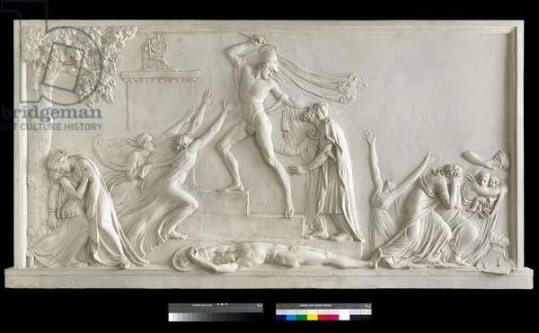 The killing of Priam, 1787-90 (plaster)