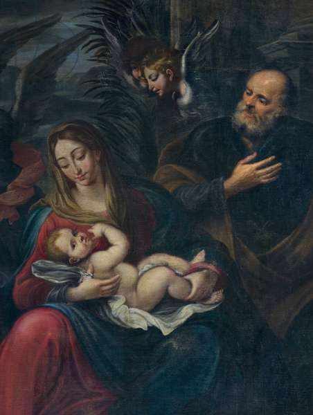 Adoration of the shepherds, detail