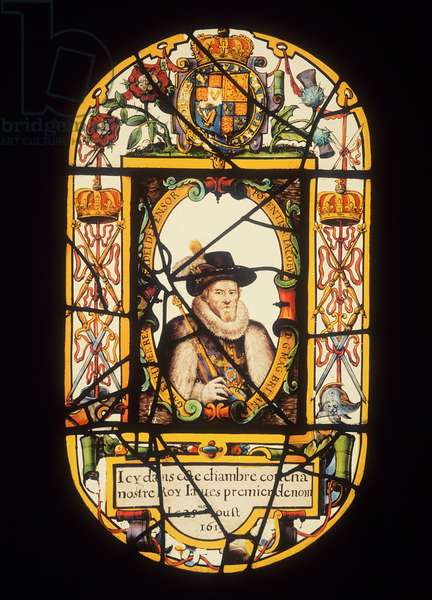 Portrait of James I (1566-1625) 1619 (glass)