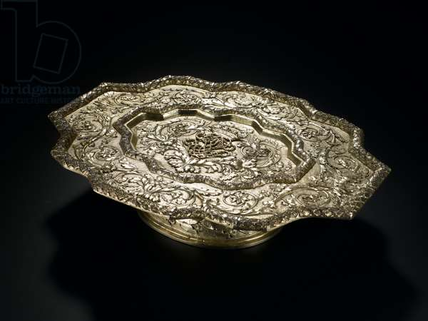 Silver-gilt salver of shaped outline, from the Lennoxlove toilet service, owned by Frances Teresa Stewart, Duchess of Richmond and Lennox: French, Paris, 1666 - 1667 (A.1954.8 H)