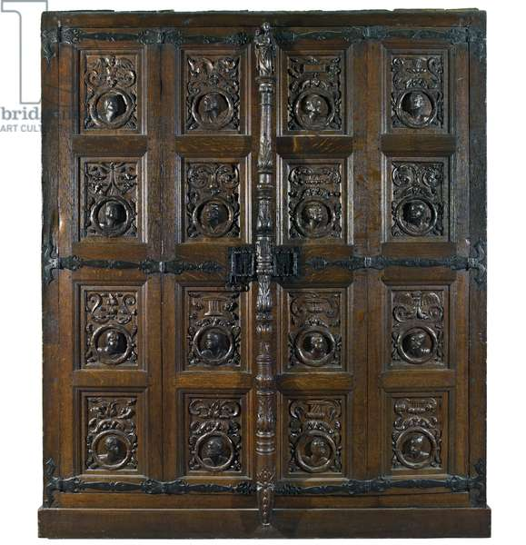 Cabinet, said to belong to Mary, Queen of Scots (oak)