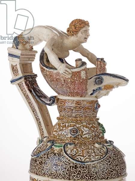 Ewer, 1545-60 (glazed earthenware)