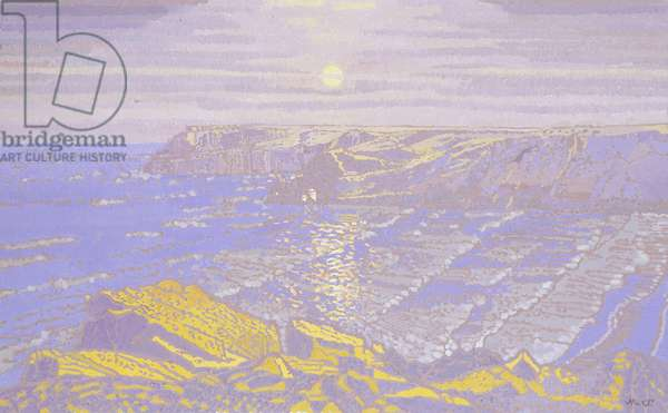Moonlight: Barafundle Bay, 2002 (oil on board)