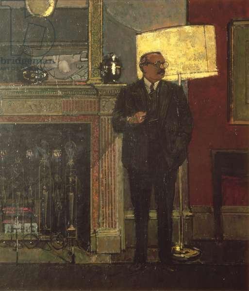 Portrait of Sir Robin Darwin (1910-74) (oil on canvas)
