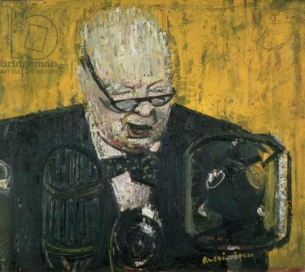 Portrait of Sir Winston Churchill (1911-68) (oil on canvas)