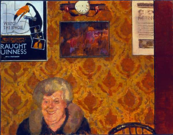 Muriel's Night Out (oil on canvas)