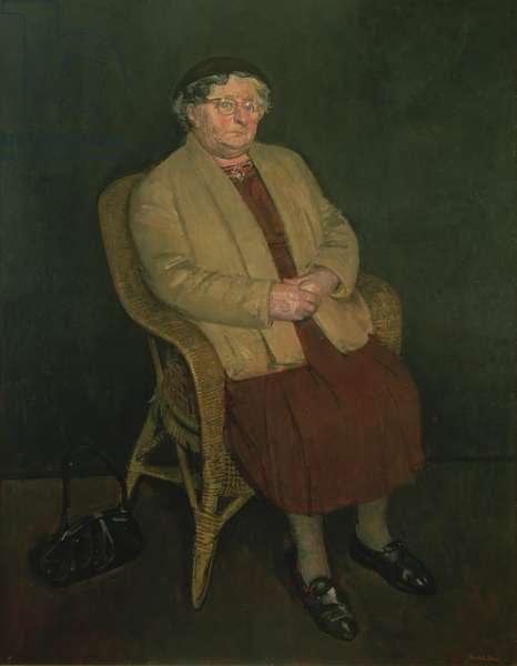 Portrait of Mrs Tallis (oil on canvas)