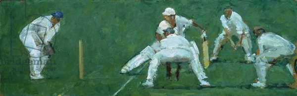 The Thin Edge, 1980's (oil on canvas)
