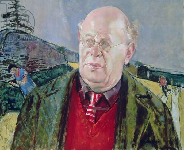 Portrait of Carel Weight (1908-97) (oil on canvas)