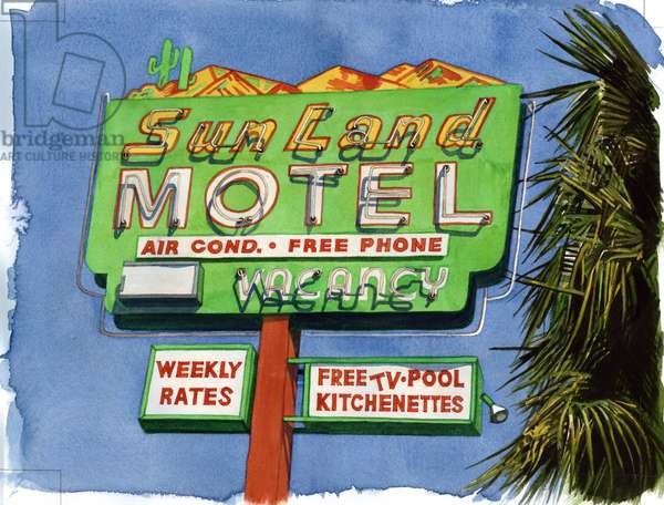 The Sun Land, Miracle Mile, 2004 (w/c on paper)