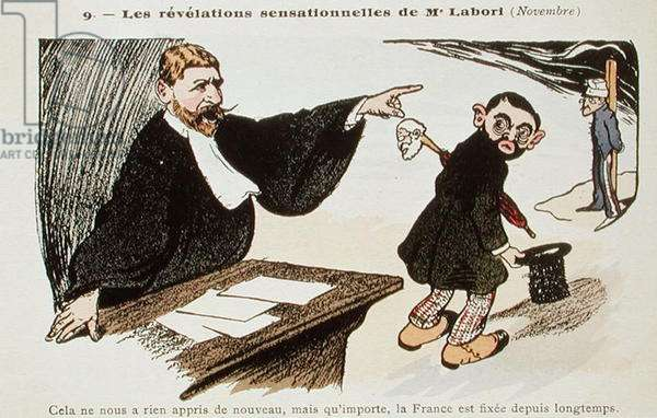 The Sensational Revelations of Fernand Labori (1860-1917) 1898-99 (coloured engraving)