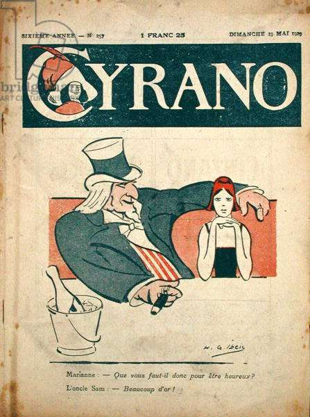 Cover of 'Cyrano', 19th May 1929 (coloured engraving)