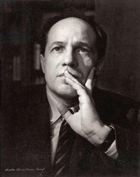Pierre Boulez (b.1925) (b/w photo)