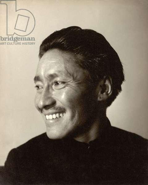 Tenzing Norgay (1914-86) (b/w photo)