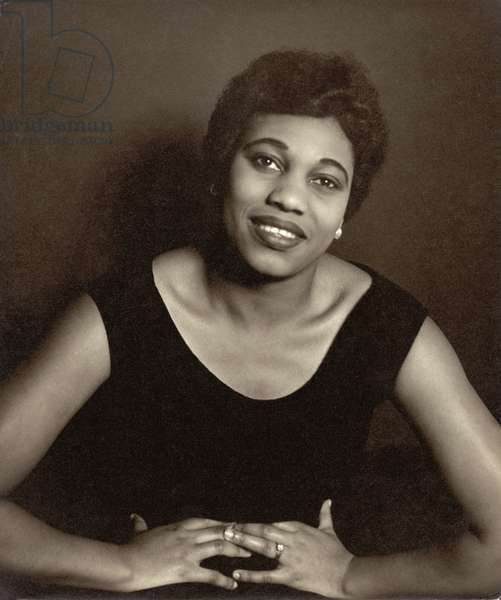 Leontyne Price (b.1927) (b/w photo)