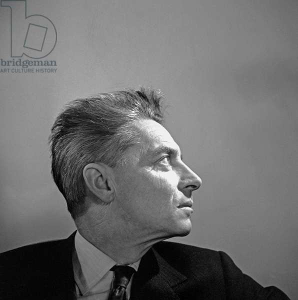 Herbert von Karajan, 1962 (b/w photo)