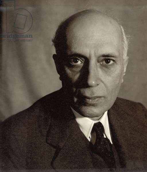 Jawaharlal Nehru (1889-1964) (b/w photo)