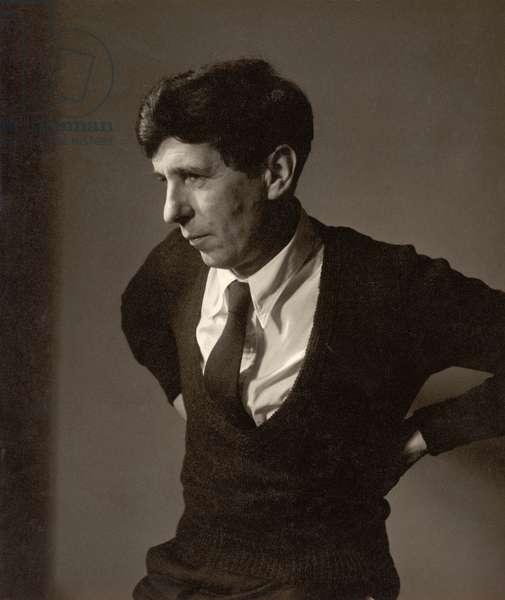 Michael Tippett (1905-98) (b/w photo)