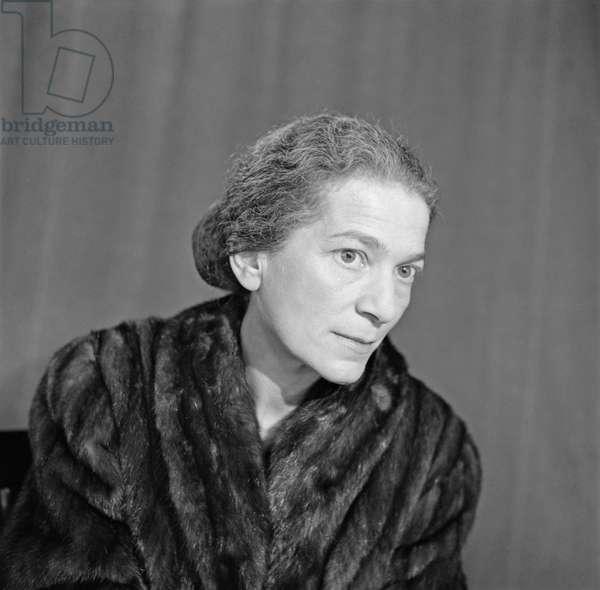 Annie Fischer, 1960 (b/w photo)