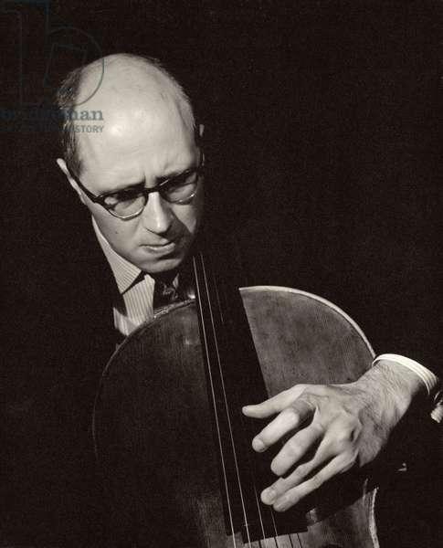 Mstislav Rostropovich (b.1929) (b/w photo)