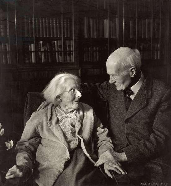 Gilbert Murray (1866-1957) with Lady Mary Howard (b/w photo)