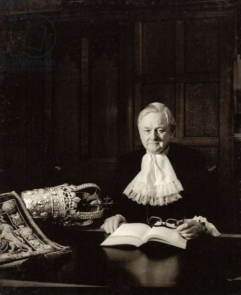 Lord Chancellor Quintin McGarel Hogg (1907-2001) 1st Baron Hailsham of St. Marylebone (b/w photo)